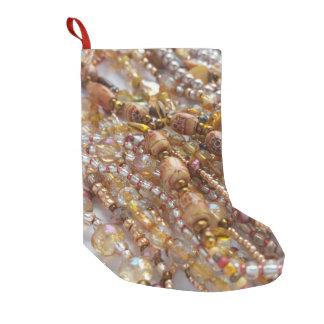 Christmas Stocking- Bead Print & Red Small Christmas Stocking