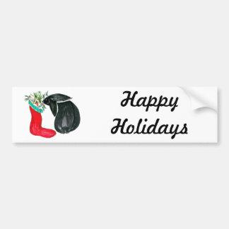 Christmas stocking bumper sticker