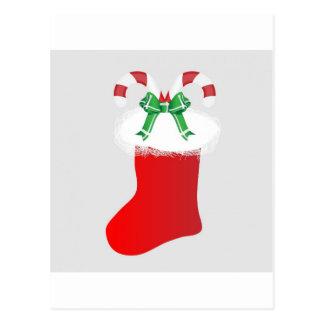 Christmas Stocking Candy Cane Peace Destiny Postcard