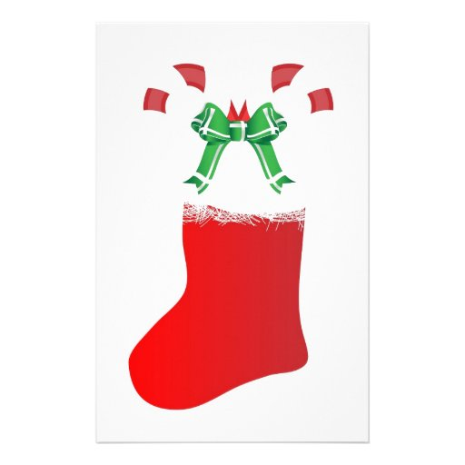 Christmas Stocking Candy Cane Peace Destiny Custom Stationery