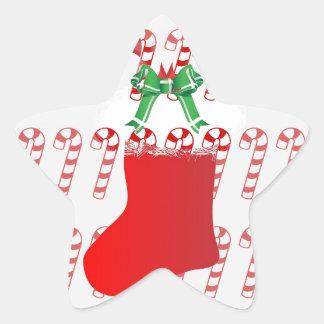 Christmas Stocking Candy Cane Peace Destiny Star Stickers