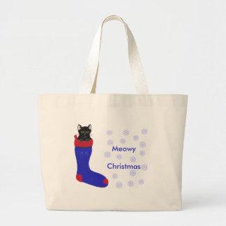 Christmas Stocking Cat, Meowy Christmas bags