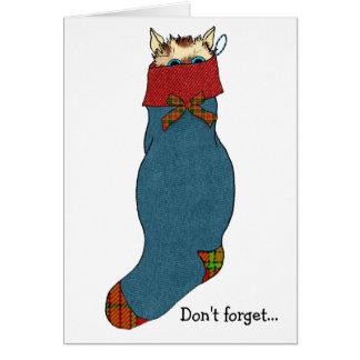 Christmas Stocking Cat Stuffer Card