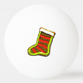 Christmas stocking cookie ping pong ball