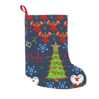 Christmas Stocking dark blue