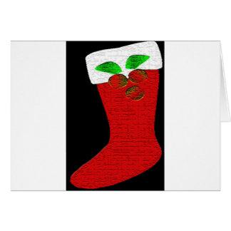 Christmas Stocking Greeting Card
