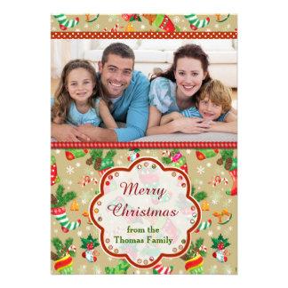 Christmas Stocking Greetings 13 Cm X 18 Cm Invitation Card