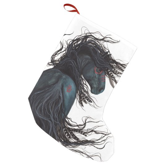 Christmas Stocking Majestic Friesin Horse Bihrle