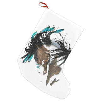 Christmas Stocking Majestic Horses by Bihrle