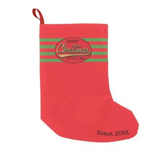 "Christmas Stocking ""Merry Christmas Retro"""