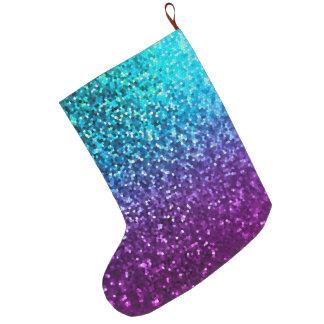Christmas Stocking Mosaic Sparkley Texture