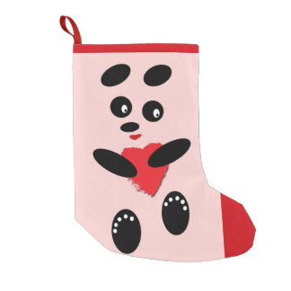 Christmas Stocking Panda In Love Small