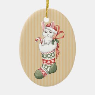 Christmas Stocking Series: Bunny Christmas Ornament