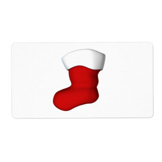Christmas Stocking Shipping Label