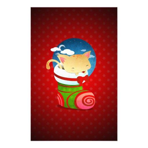 Christmas Stocking Stationery Design