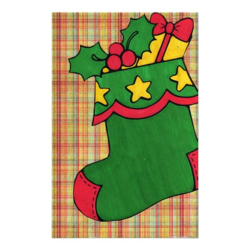 Christmas Stocking Customized Stationery