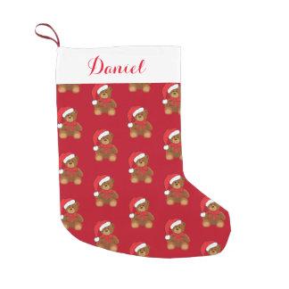 Christmas Stocking-Teddy Bear Small Christmas Stocking