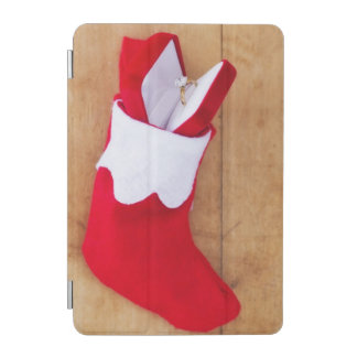 Christmas stocking with engagement ring iPad mini cover