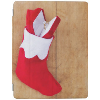 Christmas stocking with engagement ring iPad cover
