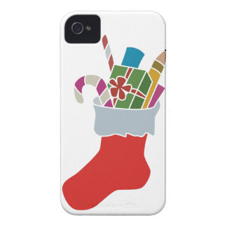 Christmas Stocking With Gifts And Candy Canes Case-Mate iPhone 4 Case
