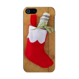 Christmas stocking with roll of money incipio feather® shine iPhone 5 case