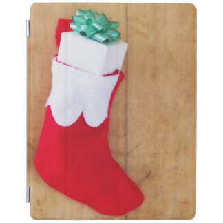 Christmas stocking with small gift iPad cover