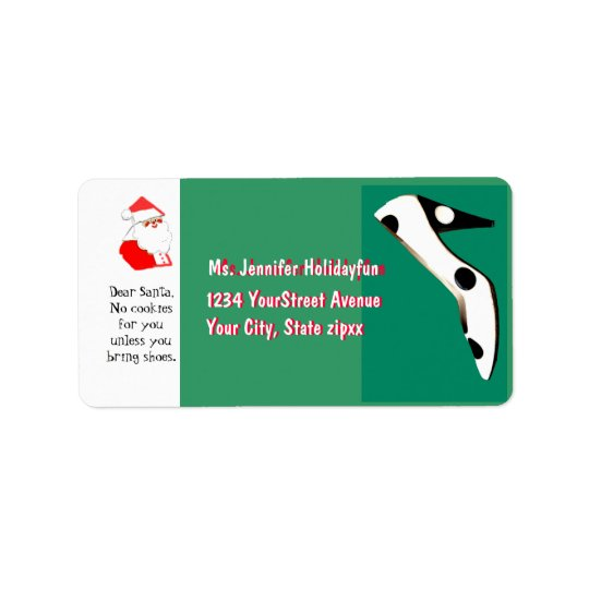 Christmas Stockings High Heel Shoe for Santa Address Label