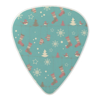 Christmas stockings pattern acetal guitar pick