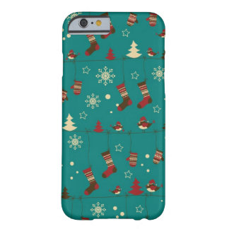 Christmas stockings pattern barely there iPhone 6 case
