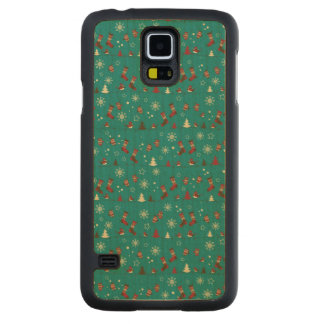 Christmas stockings pattern maple galaxy s5 slim case