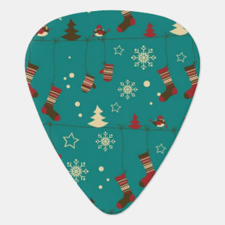 Christmas stockings pattern plectrum
