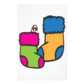 Christmas Stockings Personalized Stationery