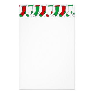 Christmas Stockings Custom Stationery