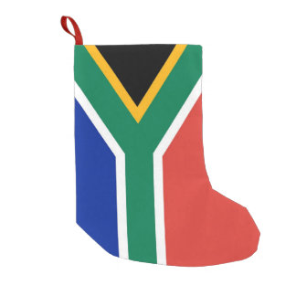 Christmas Stockings with Flag of South Africa