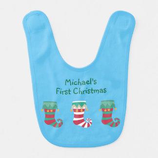 Christmas Stockings Wraparound Bib