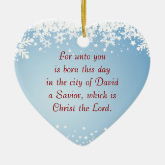 Christmas Story Luke 2 Christian Customizable Christmas Ornament
