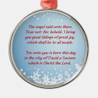 Christmas Story Luke 2 Christian Religious Christmas Ornament