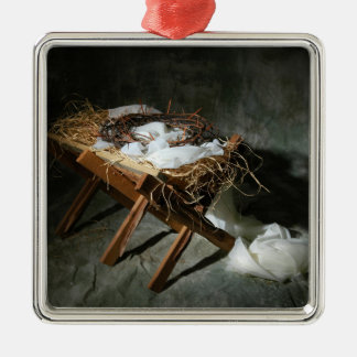Christmas Story Metaphor Silver-Colored Square Decoration