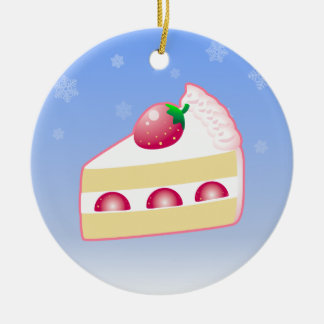 Christmas Strawberry Cake Christmas Ornament