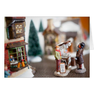 Christmas Street Miniature Village Card