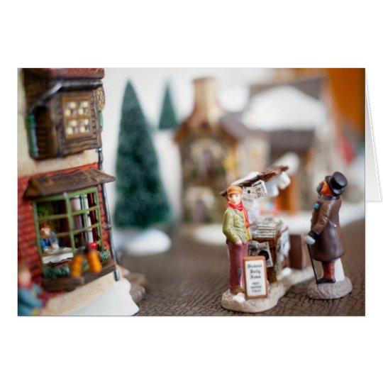Christmas Street Miniature Village Card
