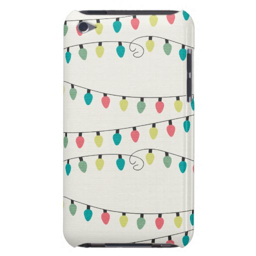 Christmas String of Lights Pattern iPod Touch Cases