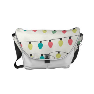 Christmas String of Lights Pattern Courier Bag