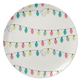 Christmas String of Lights Pattern Plate