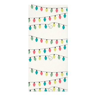 Christmas String of Lights Pattern Rack Card