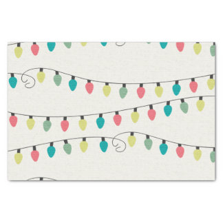Christmas String of Lights Pattern Tissue Paper