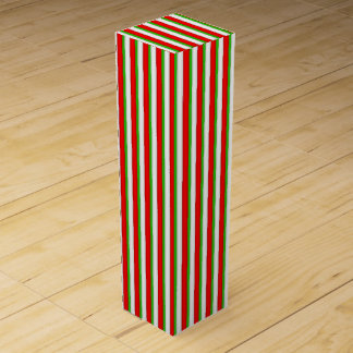 Christmas Stripe Pattern wine box