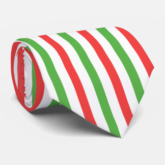Christmas Stripes Along necktie red/green