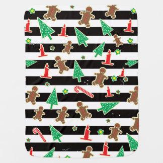 Christmas Stripes Baby Blanket