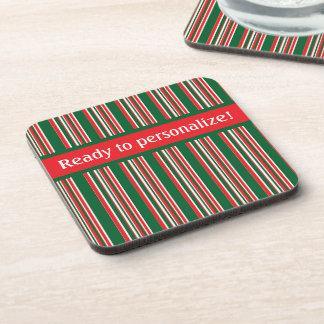 Christmas Stripes Coaster